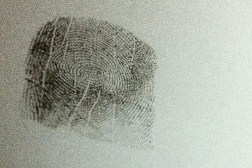Criminals' days may be numbered after Dutch forensic experts discovered how to accurately date fingerprints, a breakthrough that could one day let police date crime scene prints from years ago. -- PHOTO: ST FILE