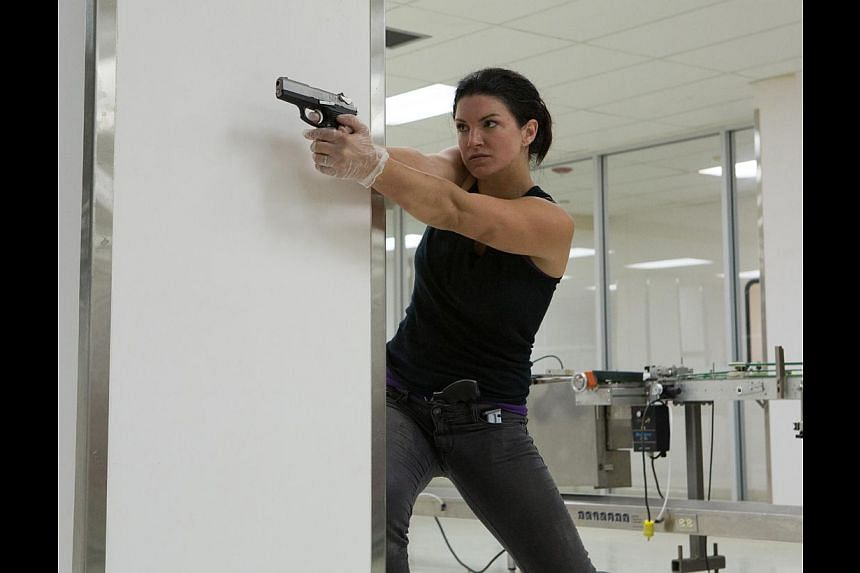 Actress Gina Carano puts her mixed martial arts training to use in In The Blood, but too bad the fight scenes are a letdown. -- PHOTO: SHAW ORGANISATION