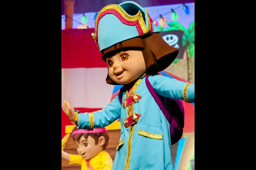 The producer is here to attend the premiere of Dora The Explorer Live! Dora's Pirate Adventure (above), a two-act interactive song and dance show, which opens at Resorts World Sentosa today.