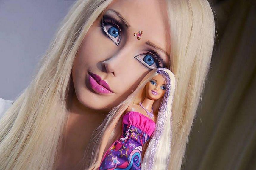 "The ""real life Barbie"". -- PHOTO: VALERIA LUKYANOVA / FACEBOOK"