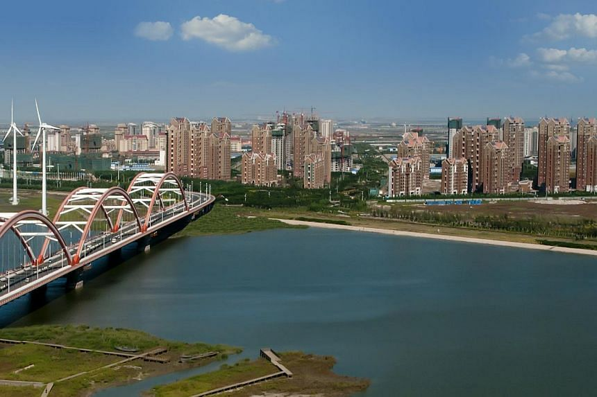 The Sino-Singapore Tianjin Eco-City is the model for sustainable development in China.Amenities in Tianjin Eco-City are falling in place and a basic community is forming, according to Mr Ho Tong Yen, chief executive officer of Sino-Singapore Ti