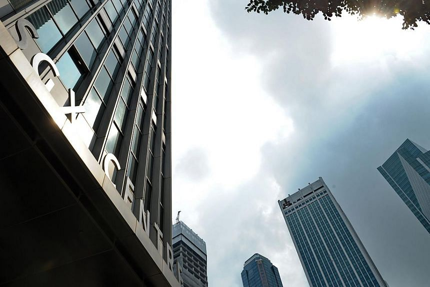 The Singapore Exchange Limited (SGX) building in Singapore on April 30, 2014. -- PHOTO: AFP