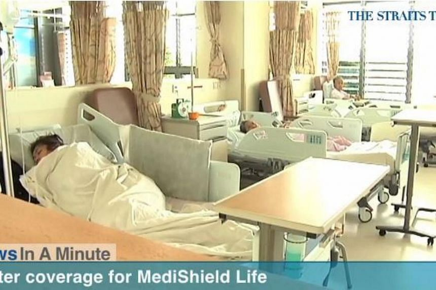 In today's The Straits Times News In A Minute video, we look at how Singaporeans can look forward to lower costs, better coverage and enhanced benefits when MediShield Life kicks in next year, among other issues. -- PHOTO: SCREENGRAB