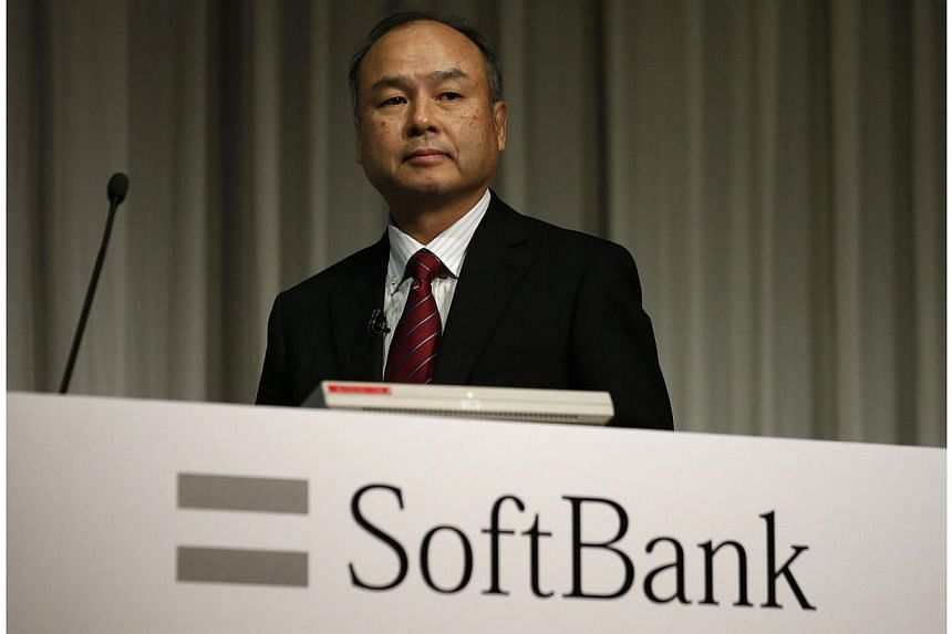 SoftBank Corp Chief Executive Masayoshi Son attends a news conference in Tokyo on May 7, 2014. -- PHOTO: REUTERS