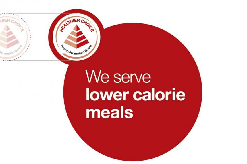 HPB's new logo that partnering restaurants, food courts and caterers will carry on their menus to reflect that they serve lower calorie meals. -- PHOTO: COURTESY OF HPB
