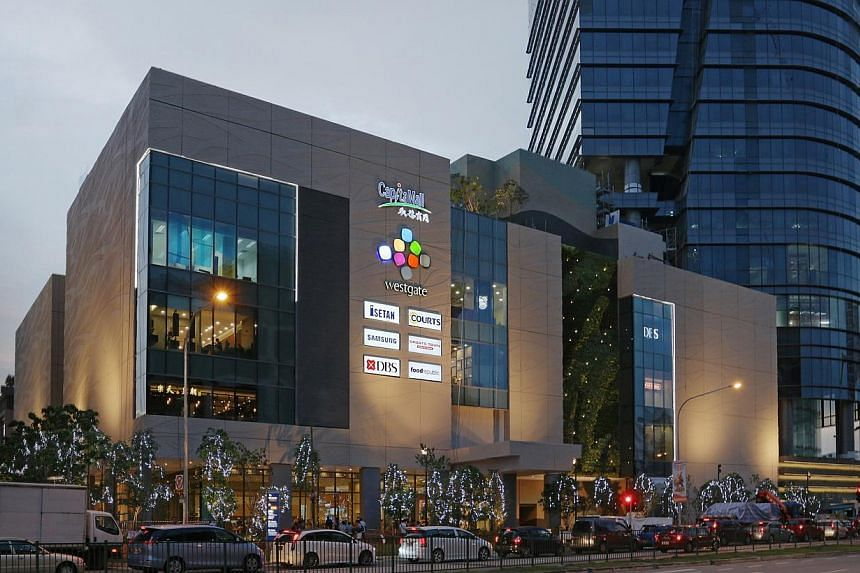 Jurong East's Westgate Mal, which is part of CapitaMalls Asia. -- PHOTO: CAPITAMALLS ASIA