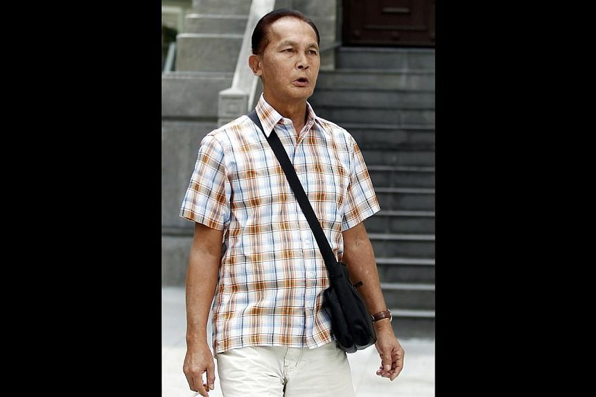 Andrew Yapp, 64,was sentenced to 22 weeks in jail on Friday after pleading guilty to two charges of cheating.-- ST PHOTO:WONG KWAI CHOW