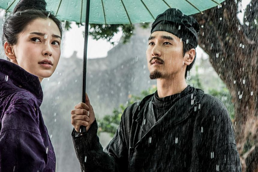 Cinema still: Young Detective Dee: Rise Of The Sea Dragon starring Angelababy and Mark Chao. -- PHOTO: SCORPIO EAST
