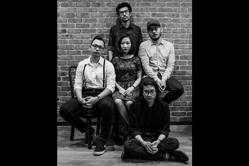 Caracal and sub:shaman (above) are among the 100 home-grown bands which will be playing at the old Hougang bus interchange. -- PHOTO: SUB:SHAMAN