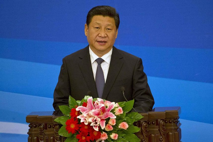 Chinese President Xi Jinping speaks at the opening ceremony of the sixth ministerial meeting of the China-Arab Cooperation Forum held at the Great Hall of the People in Beijing on June 5, 2014. Chinese President Xi Jinping on Friday promised to