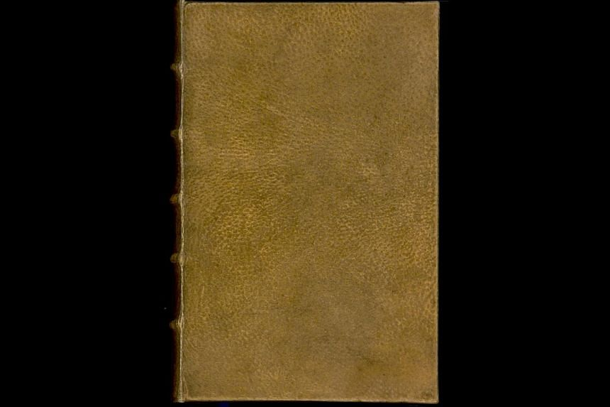 The book Des destinees de l'ame, by Arsene Houssaye (1815-1896), is pictured in this undated handout photo courtesy of Harvard College Library Digital Imaging Group, Harvard University. -- PHOTO: REUTERS