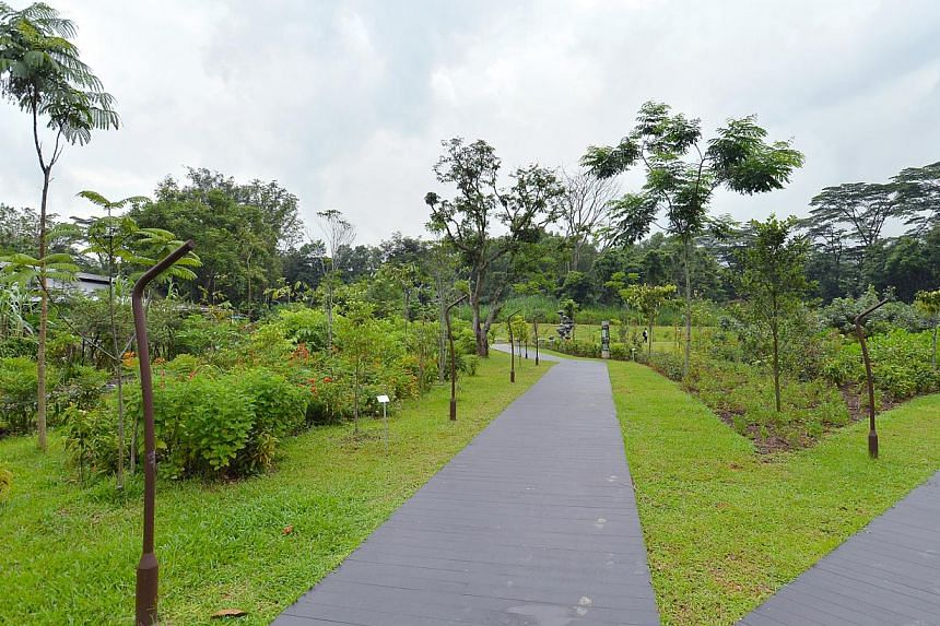 The Butterfly Garden at the new Jurong Eco-Garden on June 4, 2014. -- ST PHOTO: LIM YAOHUI
