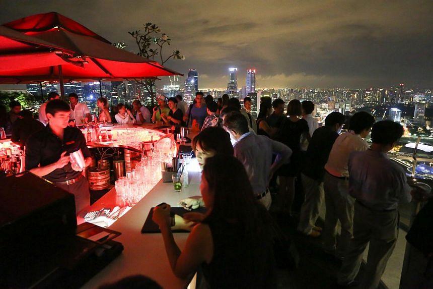 SkyParkrestaurant-bar.--PHOTO: ONG WEE JIN