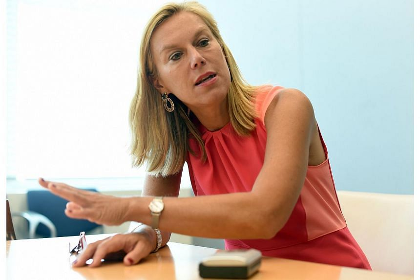 Ms Sigrid Kaag, the head of the international mission overseeing the destruction of Syria's chemical weapons at the United Nations Headquarters in New York June 4, 2014. -- PHOTO: AFP