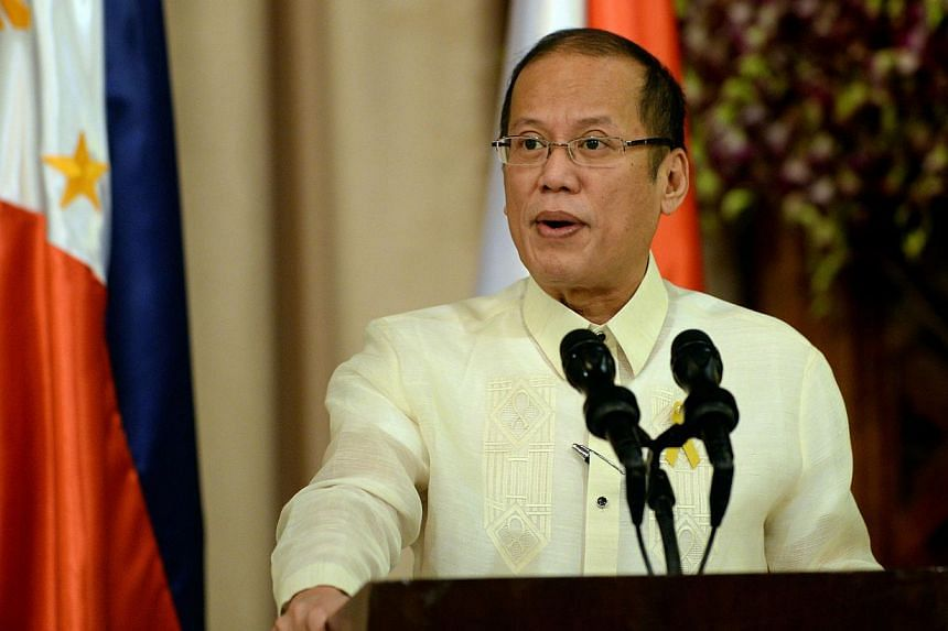 Philippine President Benigno Aquino speaks during a joint press statement with Indonesian President Susilo Bambang Yudhoyono (not in picture) at the Malacanang Palace in Manila on May 23, 2014.The Philippines on Saturday said it was preparing t