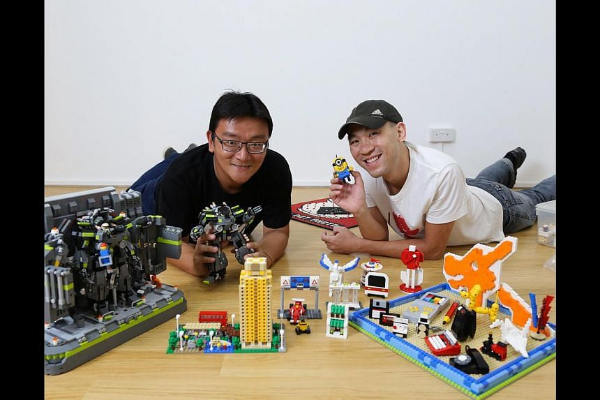 Mr Jeffrey Kong (above, right) and Mr Benjamin Cheh (above, left). -- ST PHOTO: ONG WEE JIN