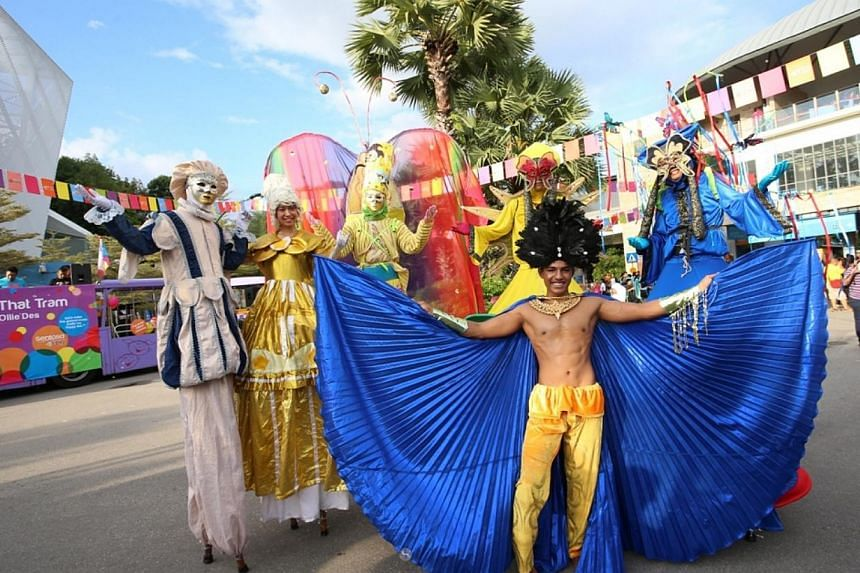 A carnival atmosphere at Sentosa's State of FUN event on Saturday, June 7, 2014. -- PHOTO: SENTOSA ISLAND