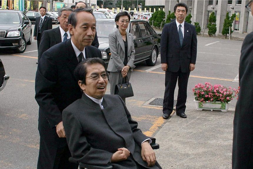 This picture taken on Oct 4, 2007, shows a cousin of Japanese Emperor Akihito, Prince Katsura on a wheelchair in Akita, northern Japan. Prince Katsura, a cousin of Japanese Emperor Akihito, died on Sunday of acute heart failure after years of st