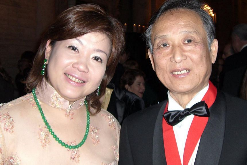 Chan with Taiwanese sculptor Ju Ming in 2006 when he had a solo exhibition at Beijing's National Art Museum of China, and with writer-artist Gao Xingjian (above) when he was given the Library Lions award by the New York Public Library in 2007 for m
