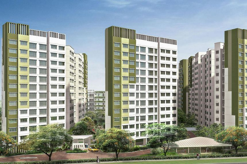 The three-generation flats come with four bedrooms and three bathrooms.