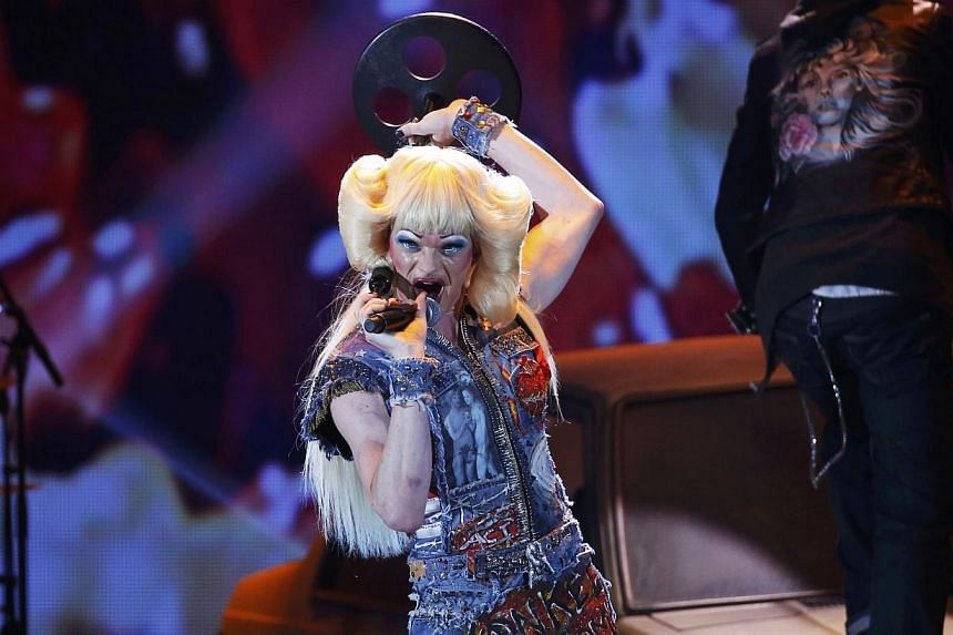 Neil Patrick Harris and the cast of Hedwig And The Angry Inch perform during the American Theatre Wing's 68th annual Tony Awards at Radio City Music Hall in New York, on June 8, 2014. -- PHOTO: REUTERS