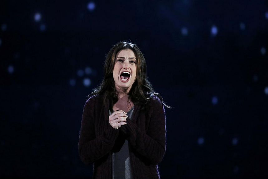 Idina Menzel performs Always Starting Over from the musical If/Then during the American Theatre Wing's 68th annual Tony Awards at Radio City Music Hall in New York, on June 8, 2014. -- PHOTO: REUTERS