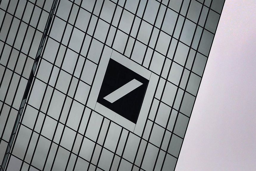 The headquarters of Deutsche Bank in Frankfurt am Main, western Germany. The Singapore branch of Germany's Deutsche Bank started the Donate One Day scheme in 2010 and support has grown since. -- PHOTO: AFP