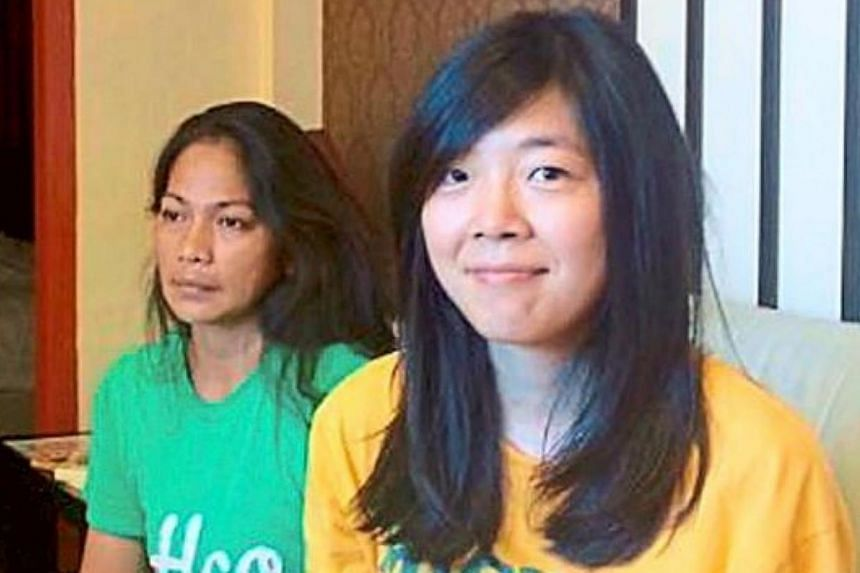 Marcy Dayawan (left) and Gao Huayun became close friends during the two months that they were in captivity. -- PHOTO: THE STAR/ASIA NEWS NETWORK