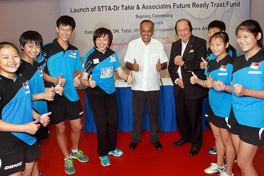 The STTA will be announcing more details of the million-dollar trust fund that has been set up to help young talents achieve their dreams of the Olympics.Local-born paddlers who make it to a coveted Olympics spot will no longer have to worry ab