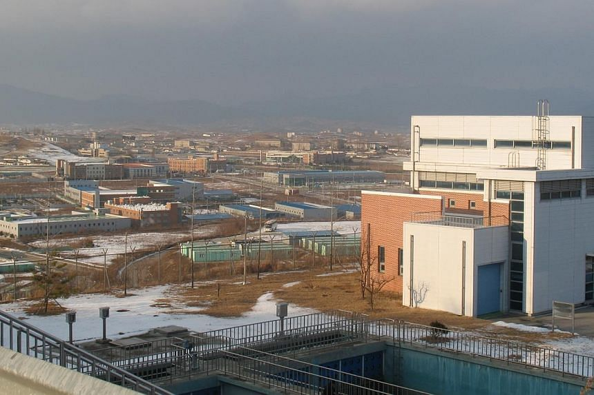 South Korea on Tuesday, June 10, 2014, said it had green-lighted a German company supplying industrial needles to set up as the first foreign company in the Kaesong joint industrial zone (above) run with North Korea. -- PHOTO:ANDREW SALMON