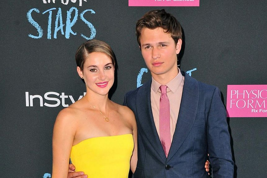 Shailene Woodley (left) and Ansel Elgort attend The Fault in Our Stars premiere at the Ziegfeld Theater on June 2, 2014 in New York City. Romantic drama The Fault In Our Stars seduced more fans than Tom Cruise's latest action flick to top North Ame