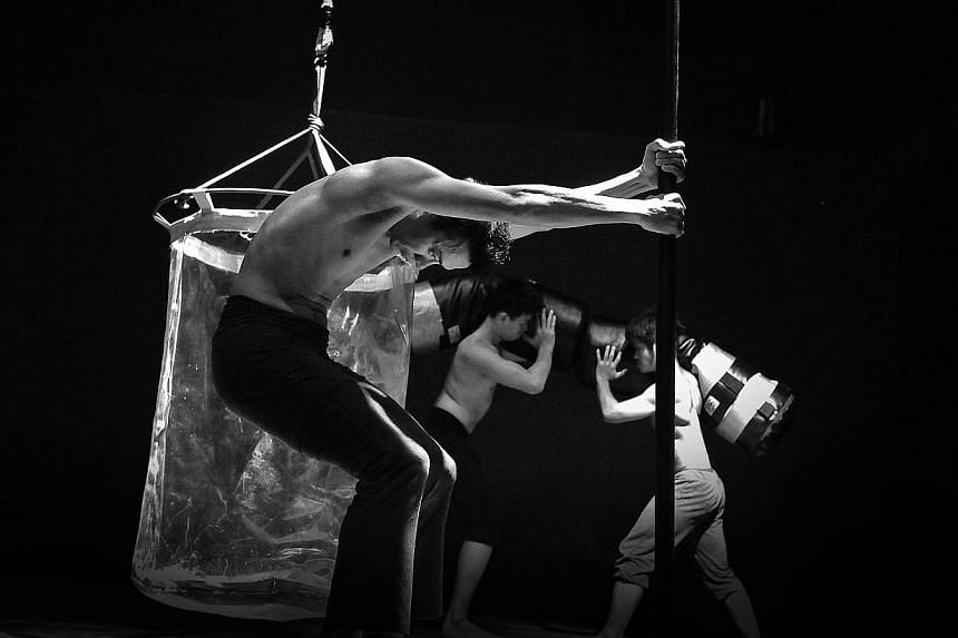 Punching bags and poles are part of the reality TVinspired Nay Nai. -- PHOTO: NATTAPOL MEECHART