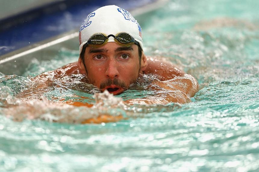 Michael Phelps, the 18-time Olympic champion and 22-time medal winner who came out of retirement in April, continues his comeback next week at the Santa Clara Grand Prix. -- PHOTO: AFP