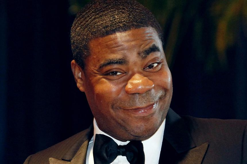 "Comedian Tracy Morgan from the television series ""30 Rock"" arrives at the White House Correspondents' Association dinner in Washington in this May 1, 2010 file photo. -- PHOTO: REUTERS"