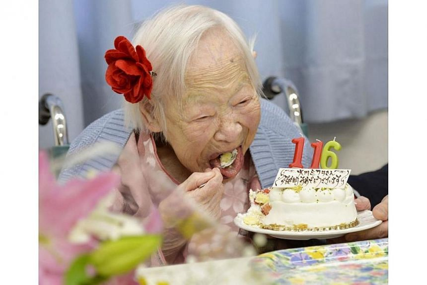 Misao Okawa from Osaka, Japan, is the oldest living person in the world at 116. -- PHOTO: INTERNATIONAL BUSINESS TIMES WEBSITE