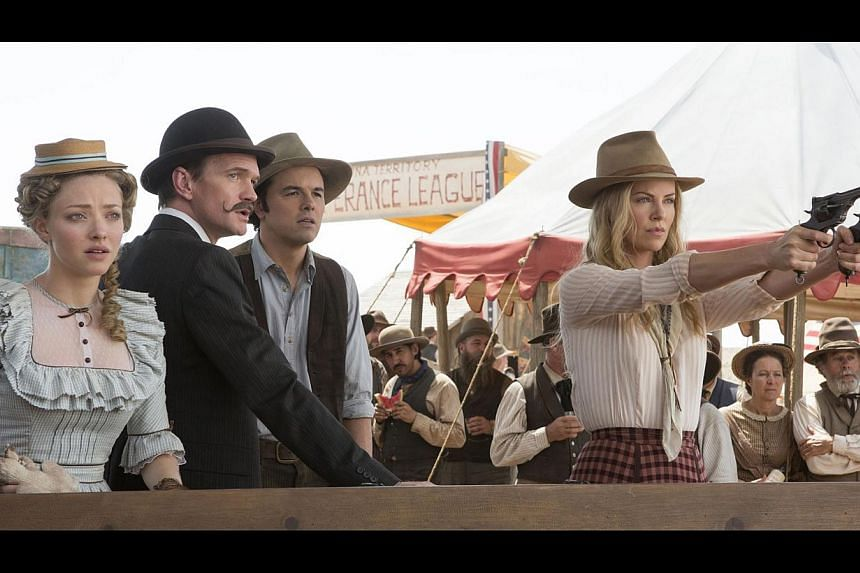 Actress Charlize Theron, who played a prostitute-turned-serial killer in the 2003 drama Monster and now stars in a comedy, A Million Ways To Die In The West (above). -- PHOTO: UIP
