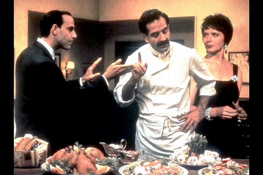 Actor Irrfan Khan is pencil- pusher Saajan Fernandez, who gets notes from the housewife who makes his lunchboxes. Actress Stephane Audran in Babette's Feast (right). Big Night's (from far left) Stanley Tucci, Tony Shalhoub and Isabella Rossellini. Ea