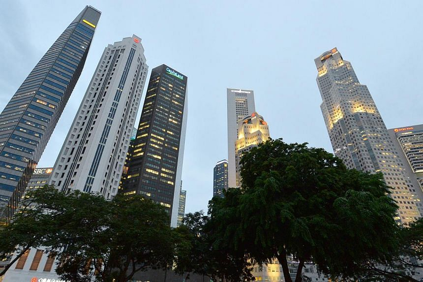 Economists are more upbeat about Singapore's second-quarter economic growth than they were earlier in the year, according to a survey conducted by the Monetary Authority of Singapore (MAS). -- ST PHOTO: LIM YAOHUIFOR THE STRAITS TIMES