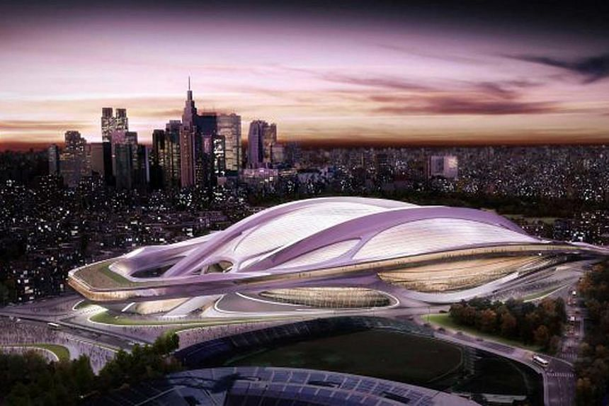 This artist rendering released by Japan Sport Council shows the new National Stadium. -- PHOTO: JAPAN SPORT COUNCIL