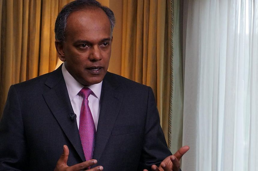 Minister for Foreign Affairs and Law K. Shanmugam will make an official visit to the People's Republic of China from June 11 to 14 at the invitation of Chinese Foreign Minister Wang Yi. -- PHOTO: ST FILE