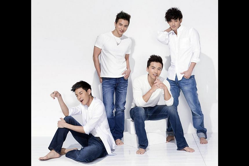 Members of Lollipop@F (from left) Owodog, Fabien, A-Wei and William. -- PHOTO: PRODIGEE MEDIA ENTERTAINMENT