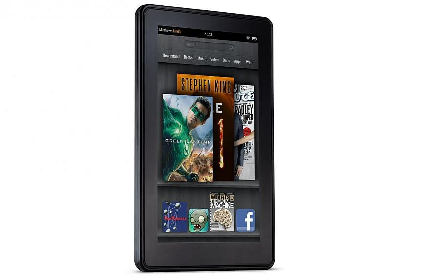 Amazon meanwhile is widely believed to be preparing to launch its own smartphone that would tie in with its Kindle tablet computers (above). -- PHOTO: AMAZON