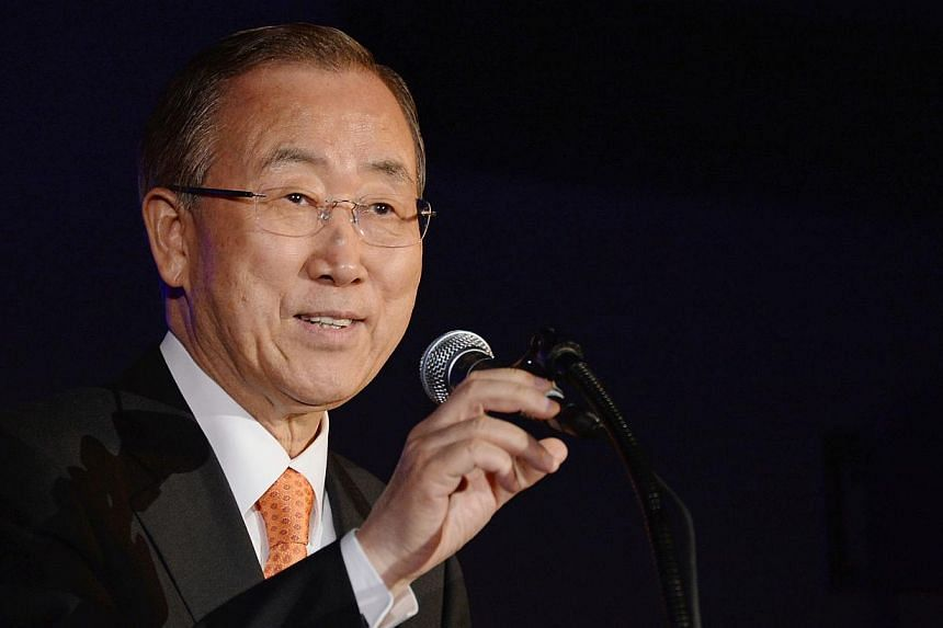 UN Secretary-General Ban Ki Moon urged the international community on Wednesday to unite behind Iraq as a lightening offensive by heavily armed jihadists swept closer to Baghdad. -- PHOTO: AFP