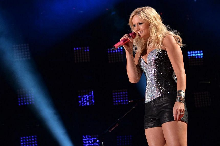 Miranda Lambert performs during the 2014 CMA Festival in Nashville, Tennessee on June 6, 2014. -- PHOTO: AFP