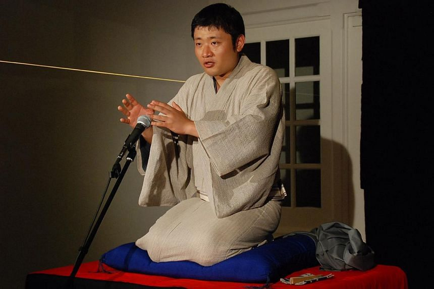 Japanese comedian Shinoharu Tatekawa (above) is attracted to the minimalistic set-up of rakugo. -- PHOTO: VIVID CREATIONS