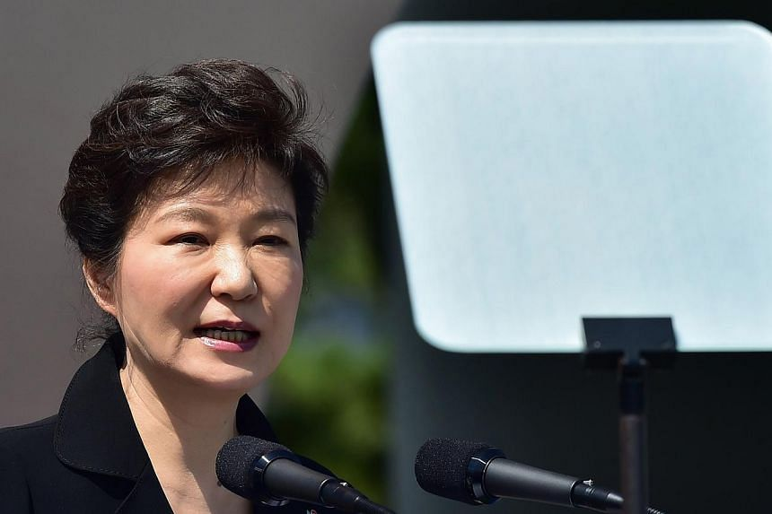 South Korean President Park Geun Hye replaced the finance minister with a three-term member of parliament and close policy confidant in a cabinet reshuffle on Friday. -- PHOTO: REUTERS