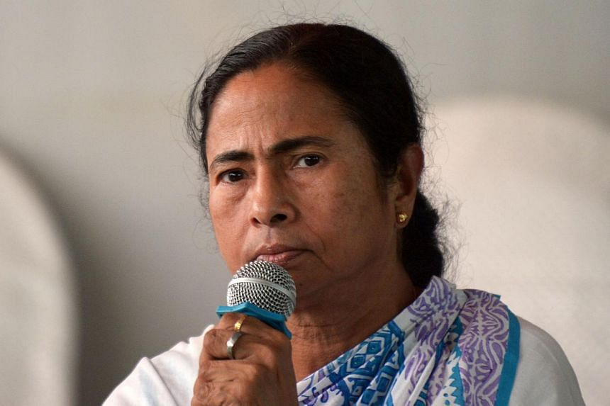 Chief Minister of the eastern Indian state of West Bengal and Trinamool Congress Party (TMC) Leader Mamata Banerjee addresses a press conference in Kolkata on May 16, 2014, following the announcement of election results. Residents in the eastern