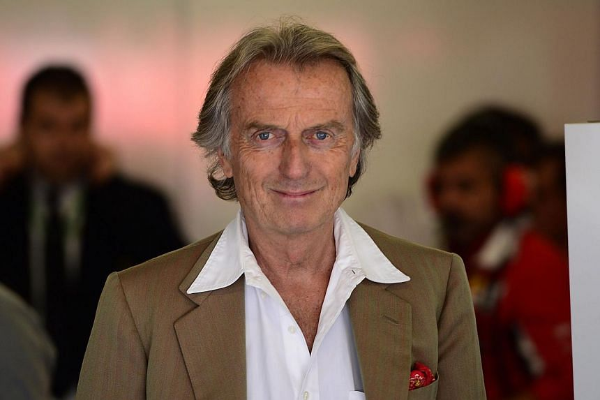 Ferrari's president Luca Cordero di Montezemolo stands in the pits during the second practice session at the Circuit de Catalunya, in Montmelo, on the outskirts of Barcelona on May 9, 2014, ahead of the Spanish Formula One Grand Prix. -- PHOTO: AFP
