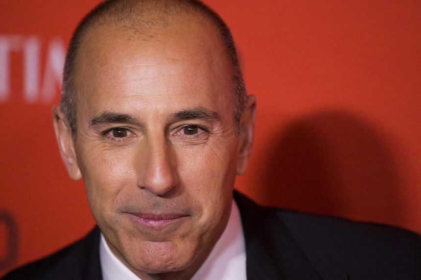 Journalist Matt Lauer arrives at the Time 100 gala celebrating the magazine's naming of the 100 most influential people in the world for the past year, in New York April 29, 2014. -- PHOTO: REUTERS