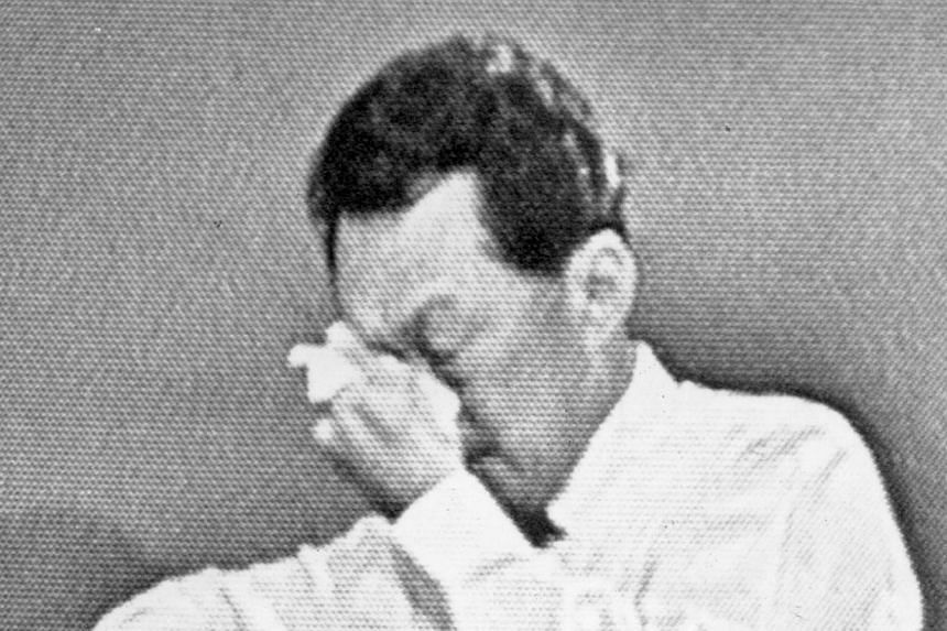 1. Then Prime Minister Lee Kuan Yew announcing Singapore's separation from Malaysia on Aug 9, 1965. -- ST FILE PHOTOS